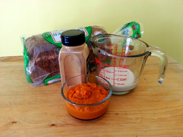 vegan pumpkin french toast ingredients
