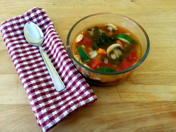 Vegetable barley soup 2