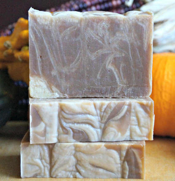 Emmet Street Creations' handmade pumpkin spice soap with made with real pumpkin