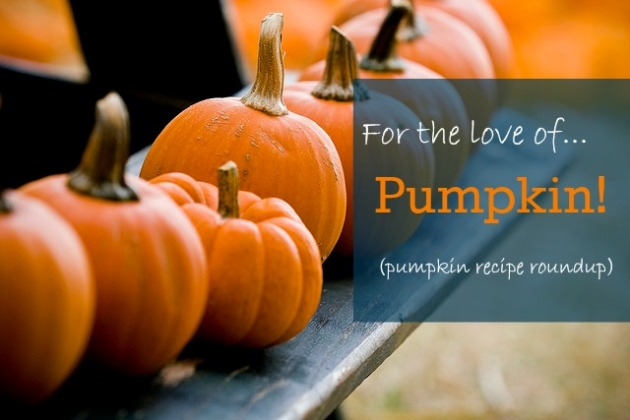 For the love of... pumpkin! Pumpkin recipe roundup