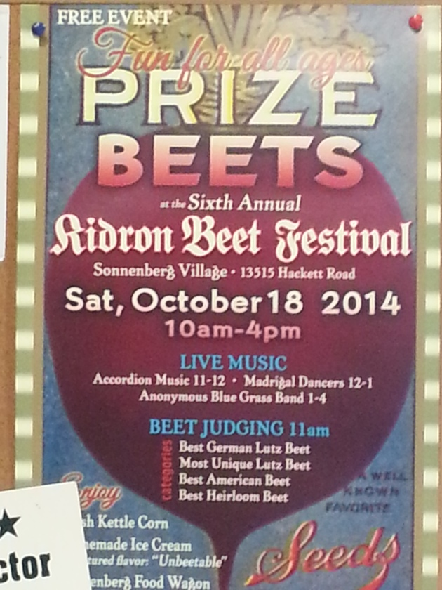 Ohio Amish Country Kidron Beet Festival