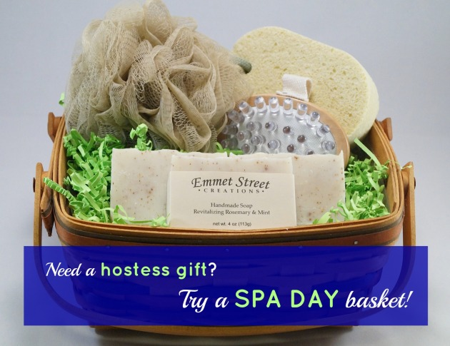 Gift ideas from Emmet Street Creations - Spa Day Basket