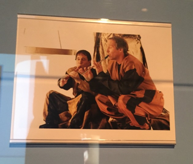 "Print of Paul Simon and Chevy Chase staring in the video for ""Proof"""