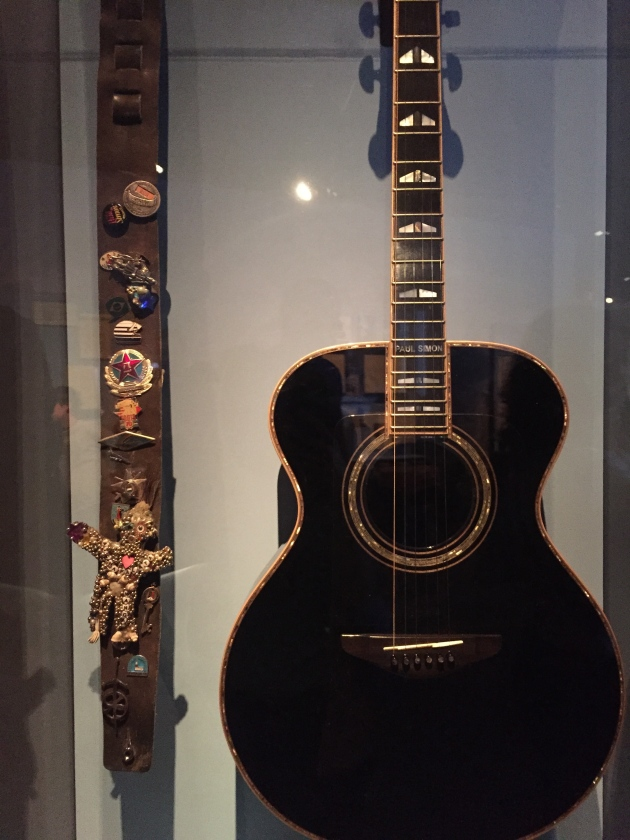 Paul Simon's guitar and strap