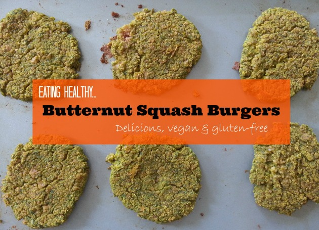 Eating healthy... Butternut squash burgers...Delicious, vegan and gluten-free