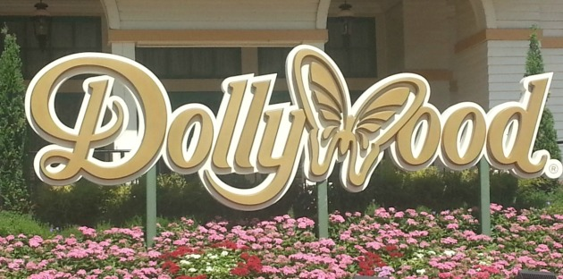 Dollywood sign at Dollywood amusement park