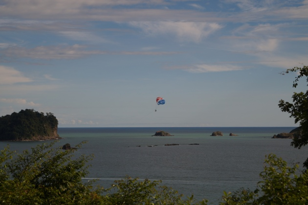 Parasailing on the Pacific Ocean