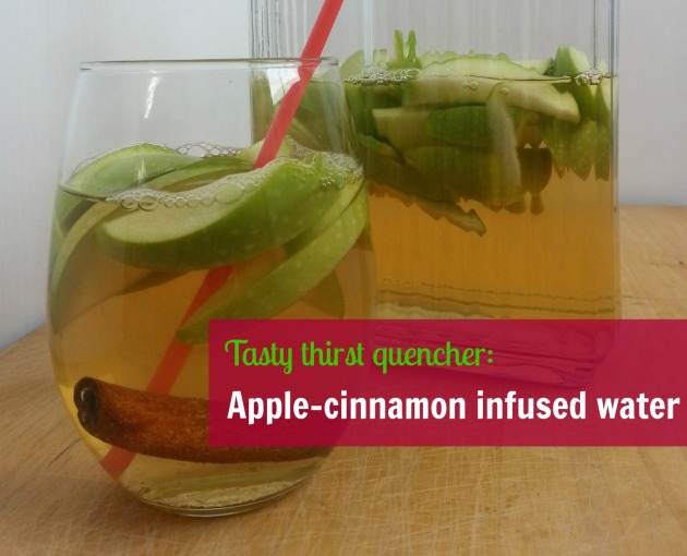 Apple cinnamon infused water