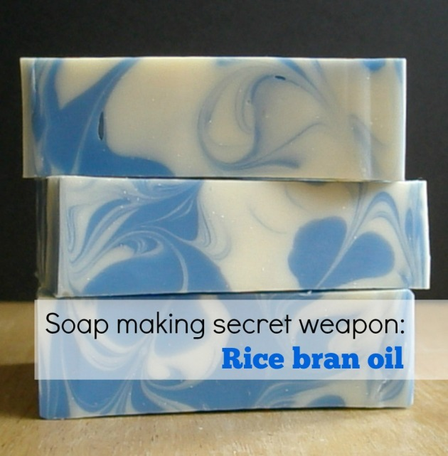 Soap making secret weapon: Rice bran oil