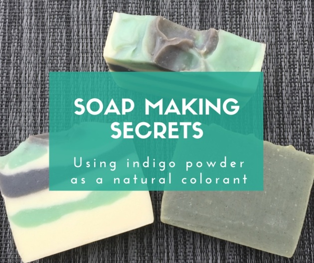 Soap making secrets: Using indigo powder as a natural colorant