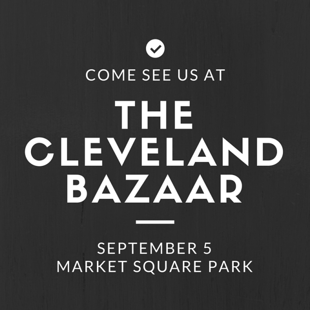 Come see us at the Cleveland Bazaar