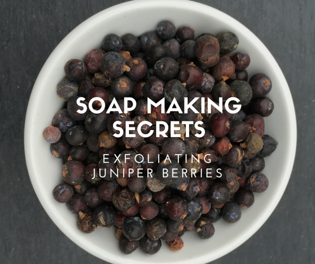 Soap making secrets: Exfoliating juniper berries