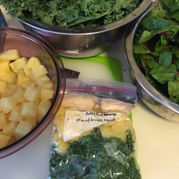 Green smoothie bags